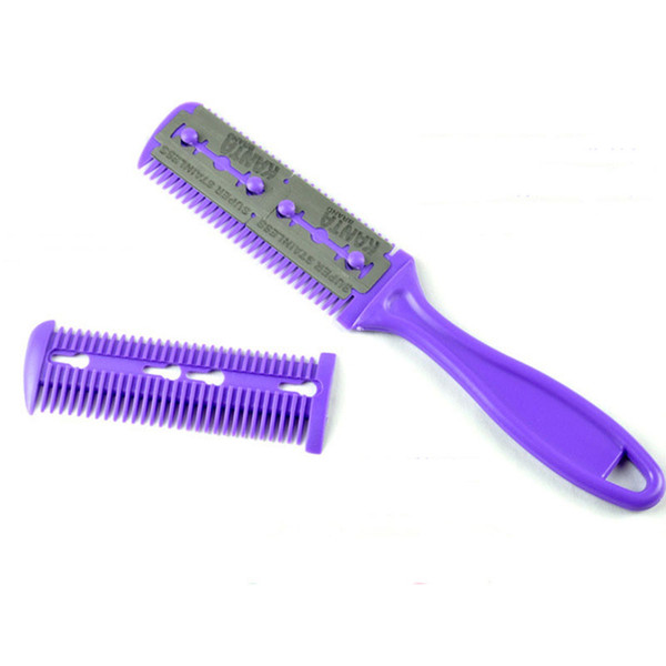 1Pc Professional Hair Razor Magic Blade Comb Hairdressing Tool Kit Stainless Steel Double-sided Knife Convenience Barber 2017