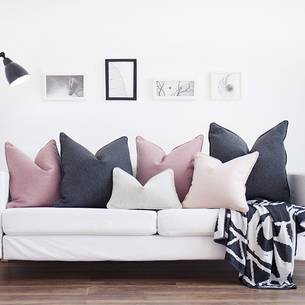wholesale Original Design Cushion Cover Nordic Style Solid Color Pillow Cover Case Sofa Chair Home Decor Without Stuffing