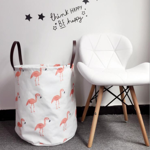 40*50cm Flamingo Washing Basket Dirty Clothes Sundries Storage Baskets Organizers Laundry Basket ins Storage Basket For Toy KKA5871