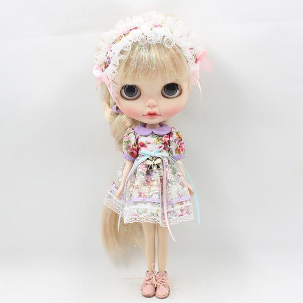 blythe doll Fortune Days Blyth doll Mori Girl style Flower dress,Hair decoration,natural dressing Factory Blyth blythe factory