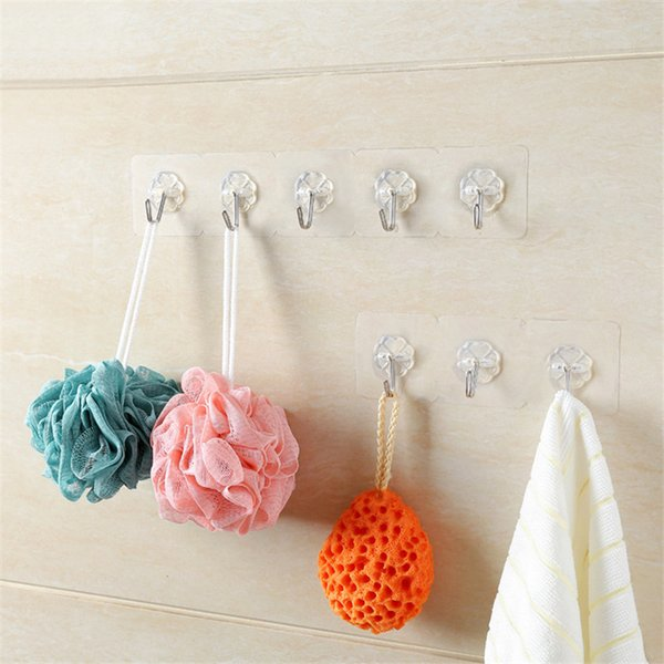 Waterproof adhesive hooks for walls Seamless strong adhesive hooks stainless steel Strong Wall Hook Hanger Kitchen Bathroom