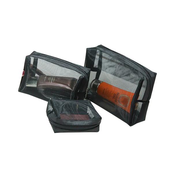 87d5c9ecbe 2019 Wholesale Black Net Cosmetic Bag Fashion Women Travel Transparent  Toiletry Wash Organizer Case Portable Makeup Pouch From Mingshoe001, $15.82  | ...