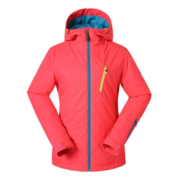 GSOU SNOW New Outdoor Female Ski Suit Winter Warm Waterproof Windproof Antistatic Wearable Ski Jacket Snow Coat For Women