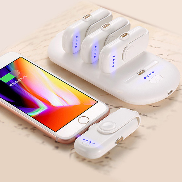Power Bank Charger >> 2019 Charger Pad Finger 5 Charging Packs Powerbank Magnetic Attraction Power Bank Charger For Iphone Android Type C Moblie Phones From Teng702 35 18