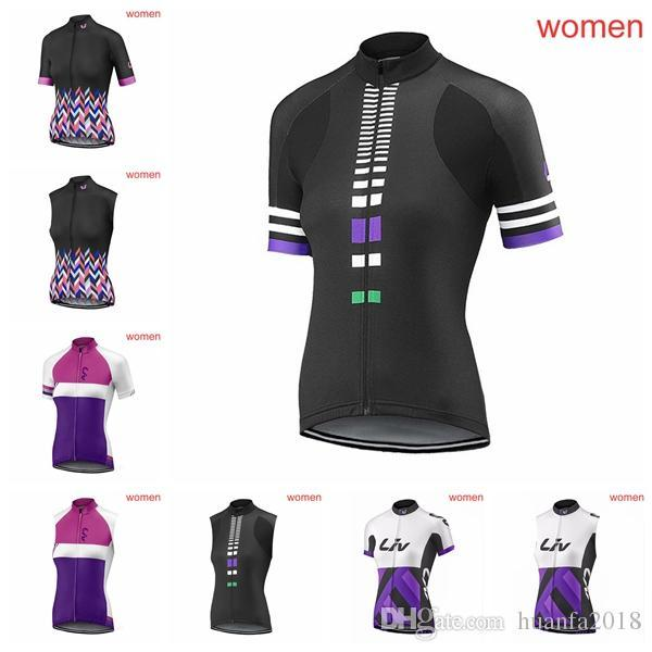 LIV team Cycling Short Sleeves/Sleeveless Jerseys Vest bicycle women breathable Mountain bike racing sport clothing F0203