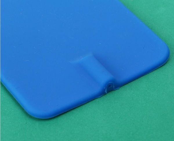 12 pz blu elettrodi rettangolari riutilizzabili elettrodi in gomma di carbonio non gelificato per EMS Tens microcorrente con foro 2.0 MM 7 * 11 cm