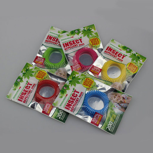 best selling Colorful Repellent Phone Ring Anti-mosquito Bracelet Mosquito Summer Natural Plant Oils Phone Strap Elastic Spiral Hand Wrist Free DHL