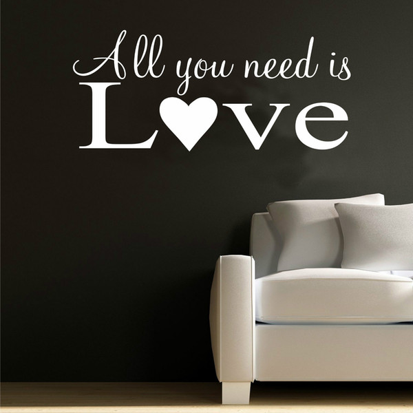 All You Need Is Love Wall Art Quote Words Couple Family Decor Bedroom Room Decoration Accessories