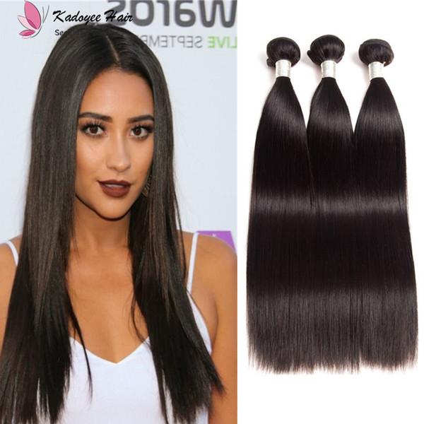 Unprocessed 8A Silk Straight 3Bundles 8-30inch Brazilian Virgin Human Hair Weaves Indian Malaysian Peruvian straigtht wholesale hair