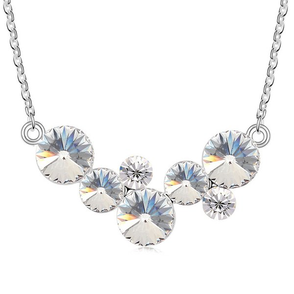 Round bubbles pendant necklace with Crystals from Swarovski fashion crystal jewelry for women girls girlfriend gift 2018