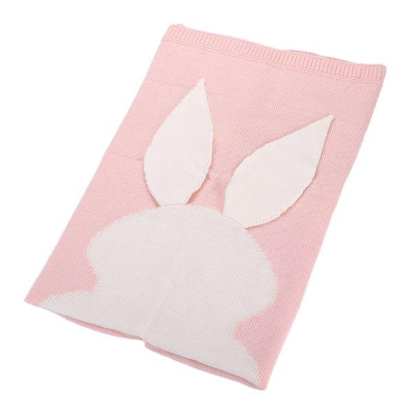 Bebé recién nacido Manta para cama Sofá Edredón Conejo de Pascua Oreja Cola Diseño Lana Tejer mantas Fácil de limpiar 31rz BB