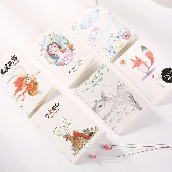 Wholesale- Cute Kawaii Girl Notebook Notepad Cartoon Totoro Diary Book For Kids Writing Gift School Supplies Free Shipping