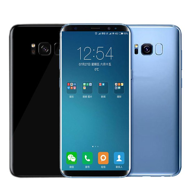S8+ S8 plus 6.2inch Unlocked cell phone MTK6580 Quad Core Android 6.0 1G/8G Show fake 1G/128G 4G LTE Smartphone