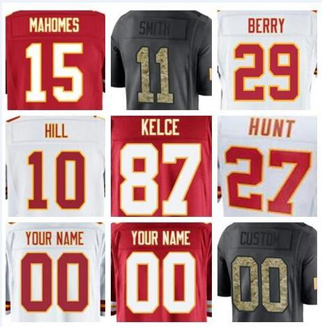 more photos 7d125 5ff35 2019 2018 Kansas City Travis Kelce Jersey Chiefs Sammy Watkins Chris Jones  American Football Jerseys Elite Game Mens Womens Youth Kids Cheap Usa From  ...