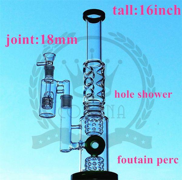 Straight Water Smoking Glass Bongs With Purple Ball Recycle Glass Bongs With Water Pipes Oil Rigs Glass Bongs Good Filtering