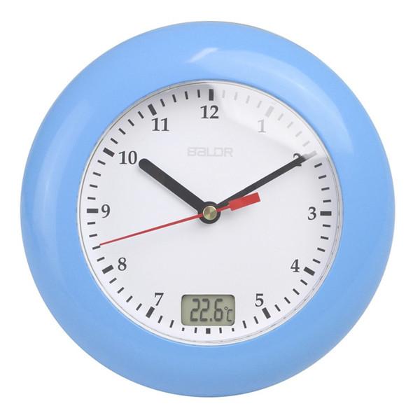 Wasser Beweis Glocke Für Home Bad Reine Farbe Digital Thermometer Saugbecher Elegante Wanduhren Vier Farben 78 tc ff