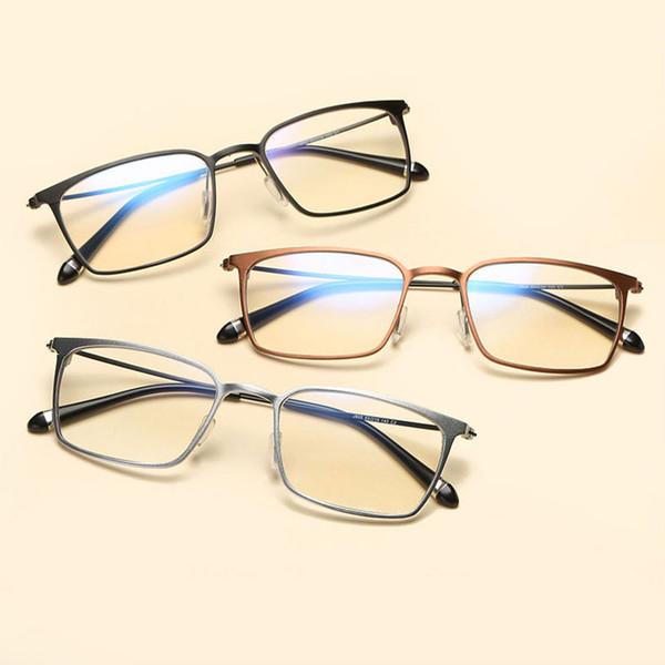 Alta Qualidade Óptica Óculos de Armação de Alumínio E Magnésio Azul Filtro De Luz Óculos de Computador Anti Radiação Óculos Espetáculo armações