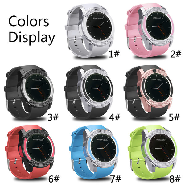 V8 Smart Watch Wristband Watch Band With 0.3M Camera SIM IPS HD Full Circle Display Smart Watch For Android System