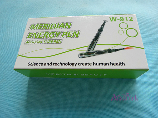 Top 3tips/5tips Electronic Acupuncture Pen Pain Relief Therapy Safe Meridian Energy Heal Massage Body Head Neck Leg Health with package W912