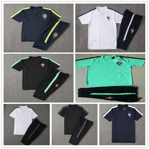 Tuta da allenamento tuta personalizzata in maglia da calcio per uomo, nazionale francese, inglese, coppa del mondo