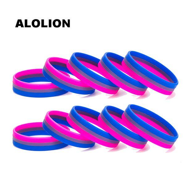 Braccialetto 0001 della banda di polso di sport dei braccialetti di gomma del braccialetto del silicone bisessuale