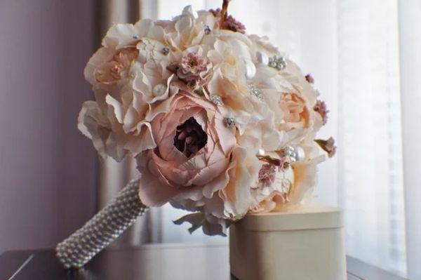 Pfingstrose Brautstrauß, Seide Hochzeitsblumen, Perlenstrauß, Champagner Hochzeitsblumen, Vintage Hochzeit, Shabby Chic Hochzeit Braut Bridesmade