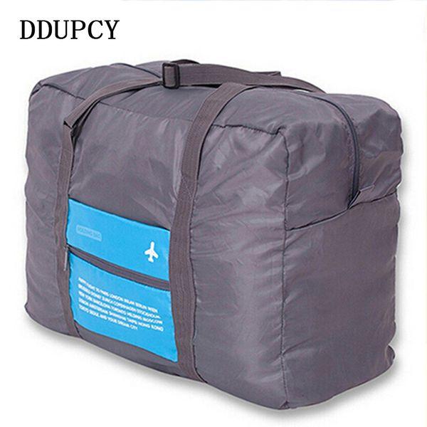 Falten Nylon große Kapazität Reisetaschen Gepäck Frauen Ultraleicht Rucksäcke