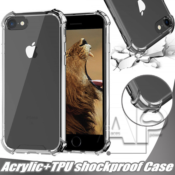 best selling For Iphone 11 Pro XR XS MAX 8 X Samsung S20 S10 S8 Plus Note 10 Cover Air Cushion Hard Back Acrylic