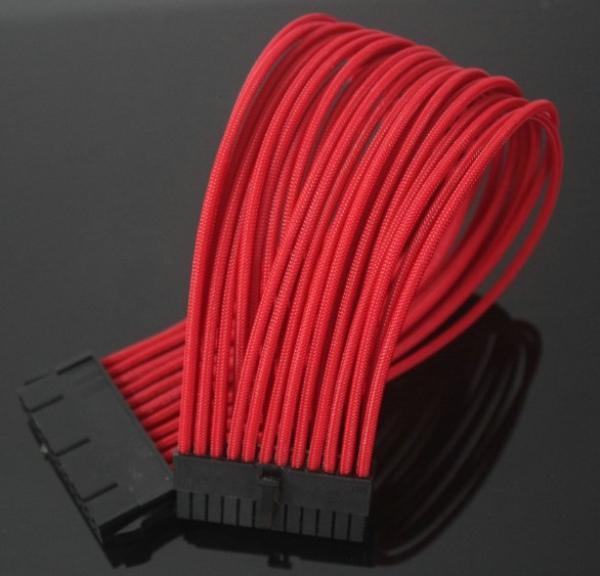 Cavo PC fai da te Colore naturale Cappotto rete Cavo di prolunga ATX a 24 pin 150 * core 0.08TS 18AWG PUL-DJ
