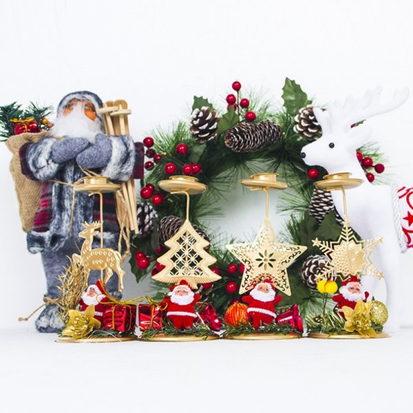 Romantic Christmas Candle Holder Candlelight Dinner Items Furnishing Articles Tables Wedding Candle Holders Xmas Home Decor
