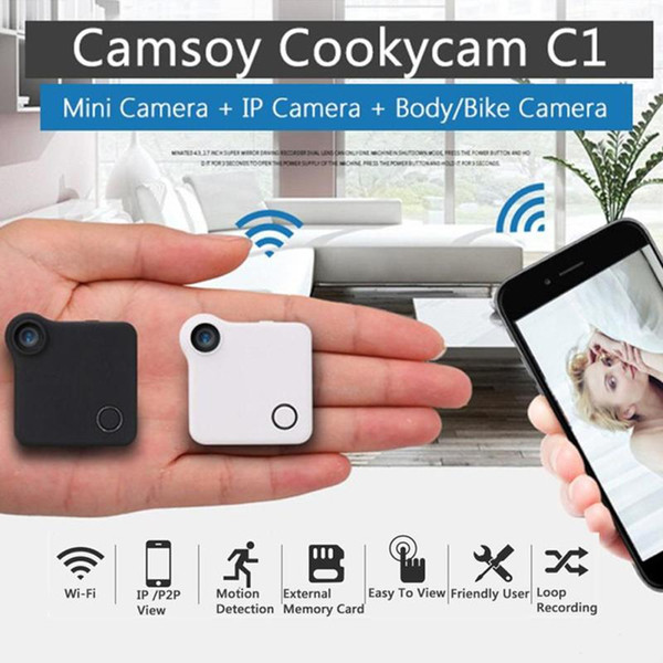 C1 Mini Camera HD 720P Wifi IP Camera Wireless Motion Dection P2P Micro Bike Mini DV DVR Camcorder With Magnetic