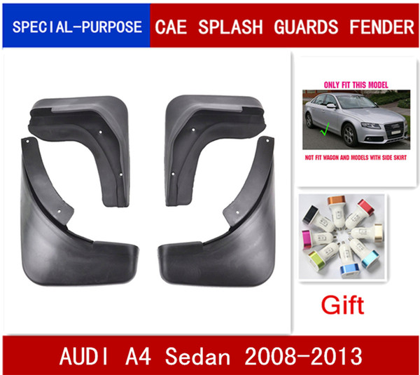 MOLDED MUD FLAPS FIT FOR 2008~2013 AUDI A4 B8 SEDAN SPLASH GUARDS MUDGUARDS 2012