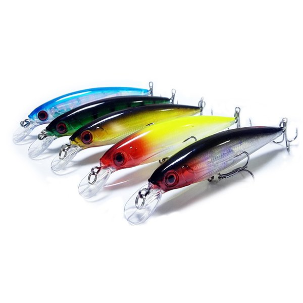 5Pcs/Lot Fishing Floating Minnow Lure 11CM 12.5G Artificial Hard Bait Fishing Wobbler Crankbait Japan Pesca Tackle