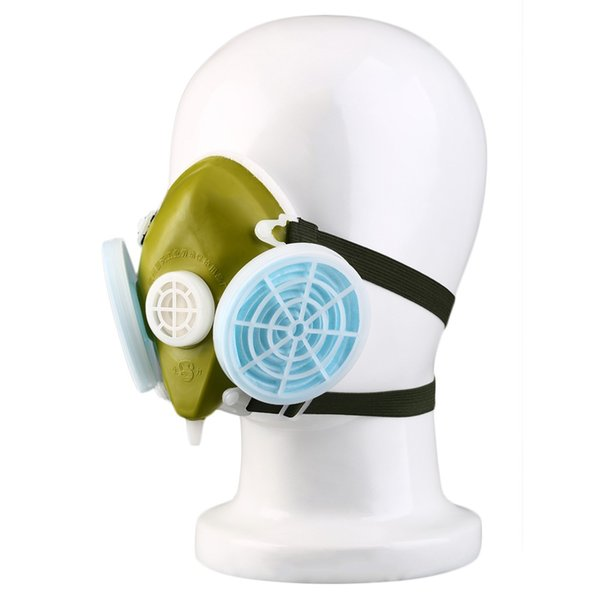 Dual Respirator Gas Mask Anti-Dust Twin Chemical Spray Paint Safety Headwear New Arrival