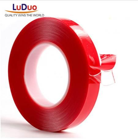 top popular LUDUO 3m Red Double Sided Adhesive Tape High Strength Acrylic Gel Transparent No Traces Sticker for Car Auto Interior Fixed 2016 2021
