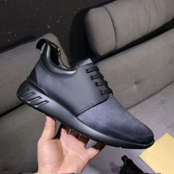 luxury brand men designer shoes black genuine leather with top quality all accessories man running casual shoes for wholesale