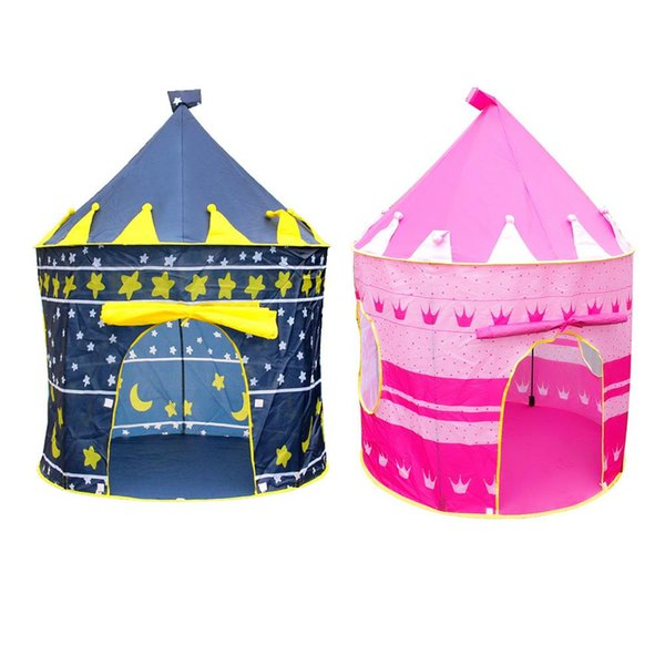 Polyester Fiber DIY Game Child Tents Magical Lovely Castle Blue Play Game House Recreation Tent