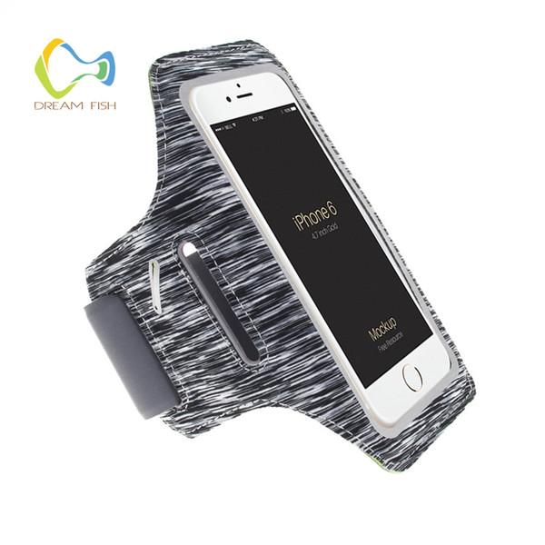 Correndo Sports Armband para Galaxy S9 Capa Bolsa Nylon Casos de telefone de fitness Armband para Huawei p inteligente Mi8 Bag