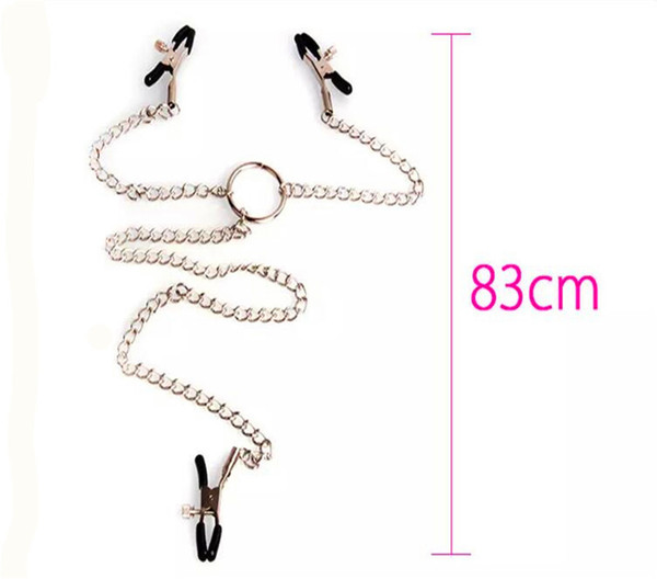 Wholesale Milk clip sex 3 In 1 Nipple Clamps Heads Ladys Breast Nipple Stimulating Nipple Clit Clip Chain Sex Game Women Set Sex Jewelry