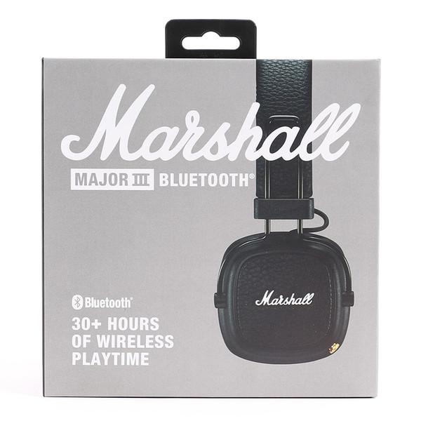 Marshall Major III 3.0 Bluetooth headphone With Mic Deep Bass Hi-Fi DJ Headset Wireless Major 3 Professional Retail box Flydream