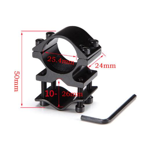 "Tactical 1"" Ring QD Flashlight Scope Shotgun Rifle Barrel Mount Fixture Black"