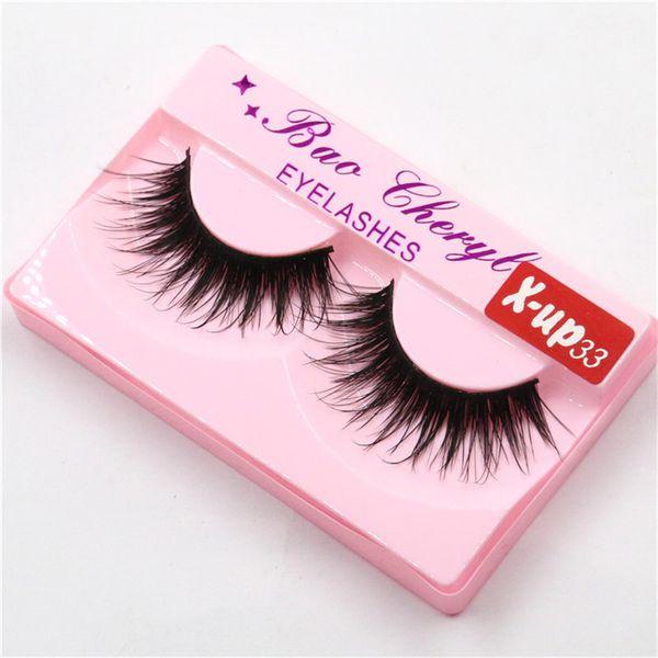 Top Quality 100% Supernatural Lifelike handmade false eyelash 3D strip mink lashes thick fake faux eyelashes Makeup beauty