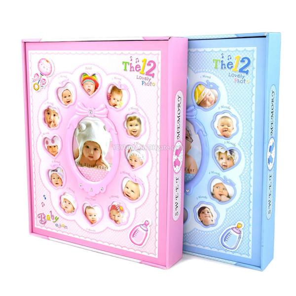 Album di foto per bambini con decorazione per copertine di crescita 12 mesi per bambini Regali commemorativi di compleanno per bambini