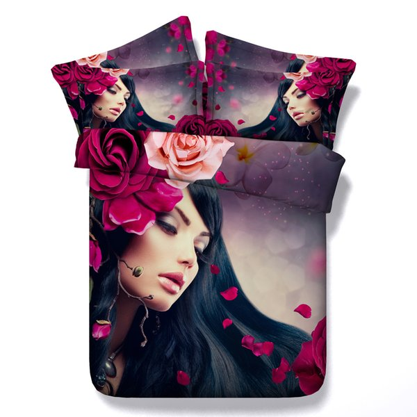 3D beautiful floral Duvet Cover Bedding Sets Bedspreads Holiday Quilt Covers Bed Linen flowers Pillow Covers galaxy twin California King