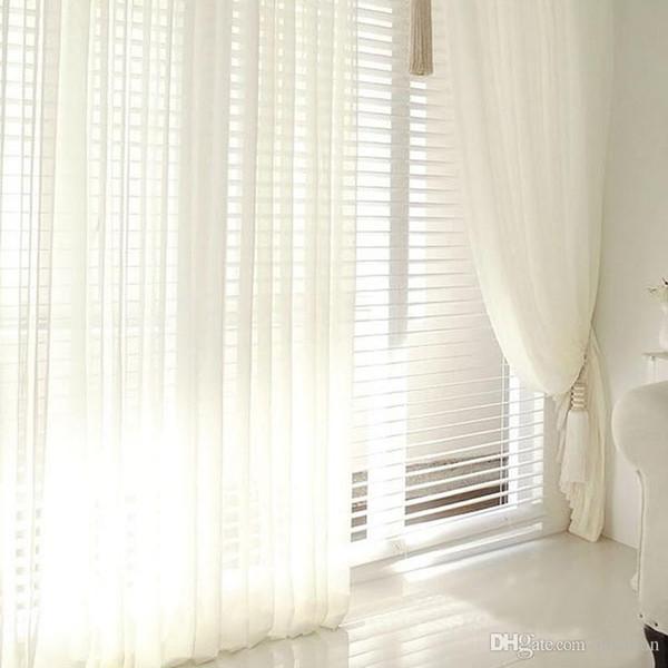 Großhandel Moderne Tüll Fenster Vorhänge Für Wohnzimmer Weiße Gardinen Für  Schlafzimmer Rustikale Balkon Garn Vorhänge Weiche Römische Jalousien Von  ...