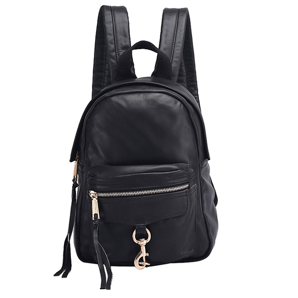 women 2018 summer casual fashion travel leather ladies mini backpack tourism party commerce backpack Hanging chain