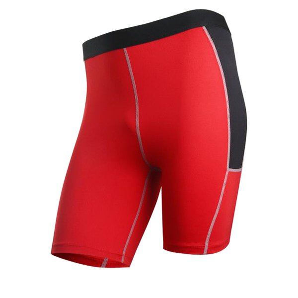 Brand New Mans Sport Shorts Men Boxers Tights Compression Shorts Fitness Gym Basketball Cycling Red Running Male