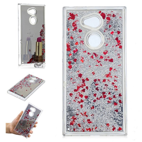 Cover For Sony Xperia XA2 Ultra Case Quicksand Flash Glitter Powder Mirror Hard Phone Cases Covers For Sony XA2 Ultra
