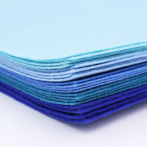 40 pcs Blue Felt Cloth 1mm Felt Fabric Polyester Fabrics Needlework DiyNeedle Sewing Handmade Fieltro Feltro Entretela