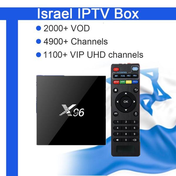 GOTiT Hebrew IPTV Box X96 2G16G Amlogic S905X Quad Core Android Smart TV Box+Israel World Pro 5000+LiveEurope Nordic Arabic,UK Canada IPTV